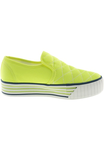 Maxstar green Maxstar Women's C30 Stitched Platform Canvas Slip On Shoes US Women Size MA164SH03FLWSG_1