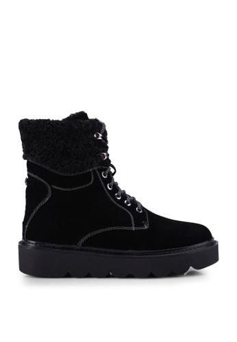 BETSY black Mackenzie Furry Boots 07B82SH7FB9108GS_1