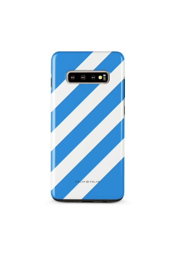 Polar Polar blue Blue Slash Dual-Layer Tough Case Glossy For Samsung Galaxy S10 Plus 3F9CEACB2862F9GS_1