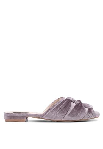 ZALORA purple Knot Detail Mules 8C21ESHF0A567BGS_1
