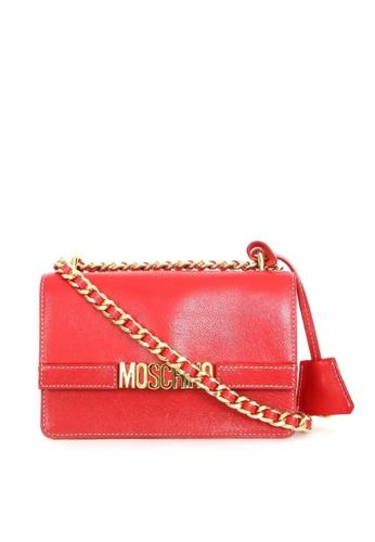 Moschino red MOSCHINO LOGO SHOULDER BAG 12235ACF8978D9GS_1