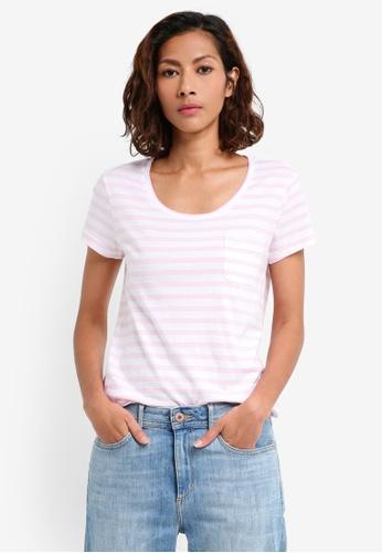 Jack Wills pink Fullford T-shirt 6B83DAA19EB3D4GS_1