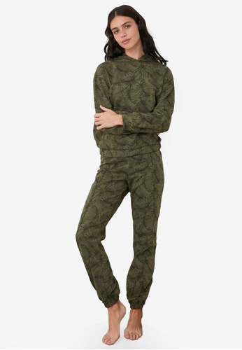Trendyol green Hooded Knit Pajama Set D29A6AA6E32632GS_1