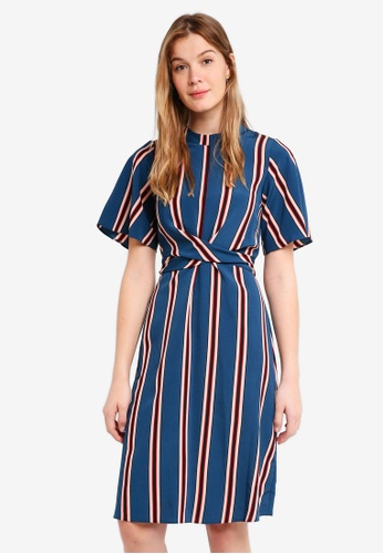 1a883a0cd445 Buy Dorothy Perkins Petite Multi Stripe Midi Dress Online on ZALORA ...