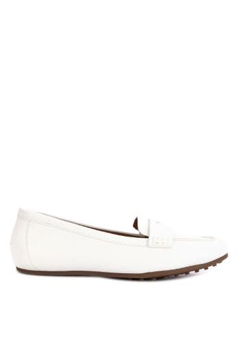 AEROSOLES white Drivein Loafers 8F145SH5F5D376GS_1