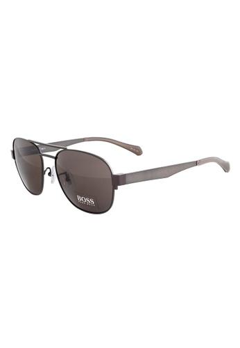 caf112cf27 Buy Hugo Boss HUGO BOSS Square Brown Sunglasses 0896FS Online ...