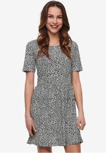 JACQUELINE DE YONG white Kirkby Printed Dress 67520AA525AC4DGS_1