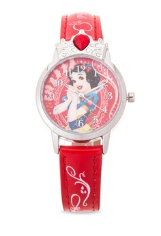 Disney Princess Girls Red Leather Strap Watch TG-3K2376U-PS-001RD