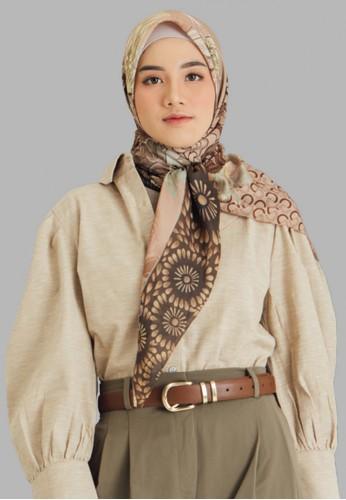 Seradia red and multi and grey Seradia Hijab Segi Empat Russet Inaaya BFD7AAADD22BE7GS_1