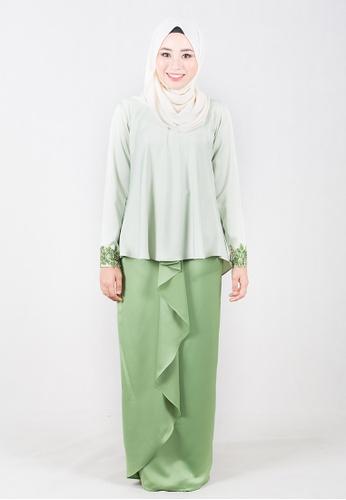 Baju Kurung Sofeyya from rania adeeba in Green