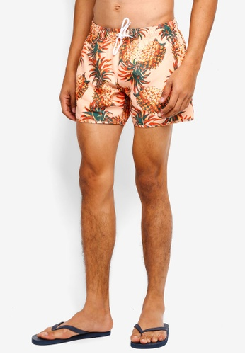 Topman yellow Pineapple Pattern Swim Shorts 2FCB1US9A4B8EFGS_1