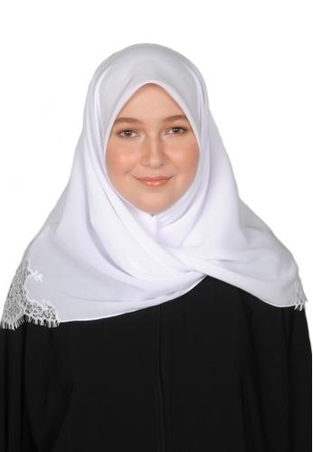 Bait Al Hijaab white SQUARE SCARF IZDIHAR 0B317AA3DEC821GS_1