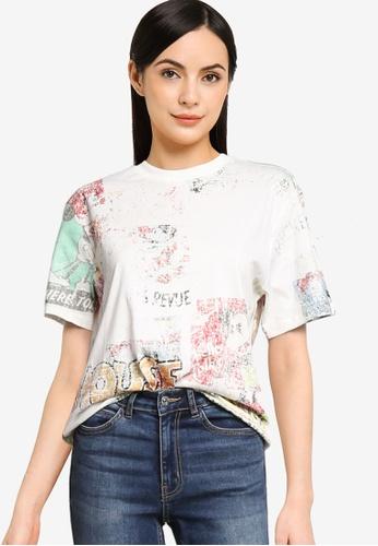 Desigual white Vintage Mickey T-Shirt 50ED3AAA0D26CEGS_1