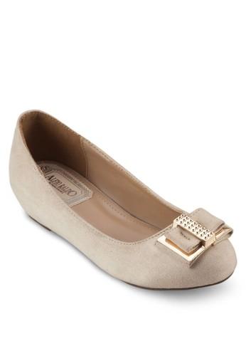 蝴蝶結平esprit 羽絨外套底鞋, 女鞋, 芭蕾平底鞋
