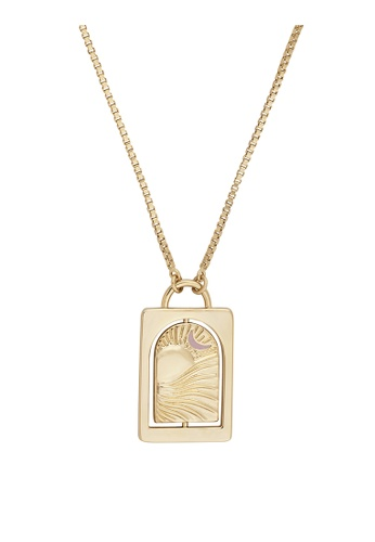 Wanderlust + Co gold Tell Your Story Blush & Gold Necklace 65A3AAC76733C5GS_1