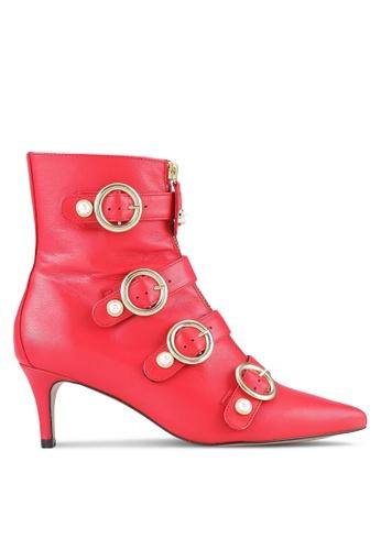 Carvela KG red Sparky Mid Heel Ankle Boots CA459SH0RSTJMY_1