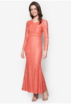 b87ca929dbd VERCATO orange Lace Maxi Dress - Vercato Vika VE999AA45GCGMY 1