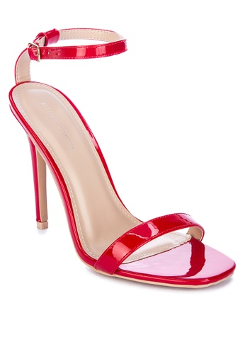 Primadonna red Single Strap Heeled Sandals 49880SH639A4C4GS_1