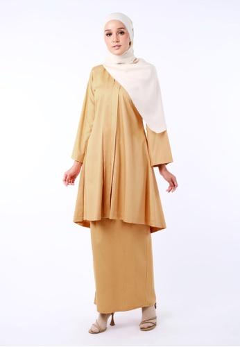 Inhanna yellow Dayang Kebaya Longgar Butter Yellow B736BAAB84481AGS_1