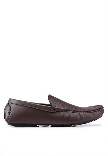 Rocklander brown Rocklander Woven Loafers 97E79SH9E026BAGS_1