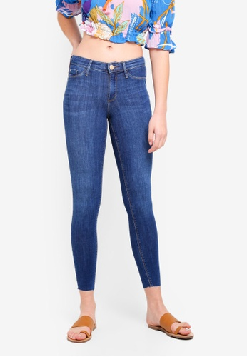 River Island blue Mid Rise Jeggings 9CD5AAA041F777GS_1