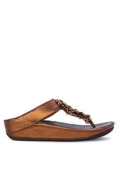 dd62500254ff Fitflop brown Rumba Toe-Thong Sandals 75B66SH0EAA1D0GS 1