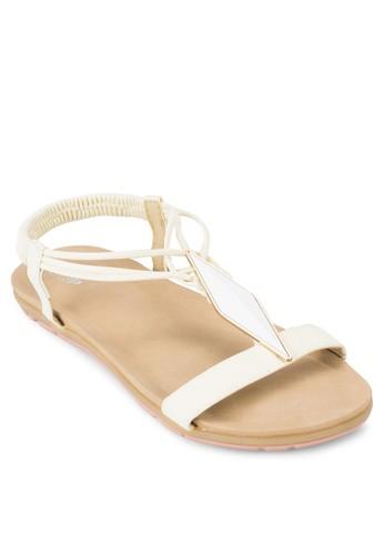 鑽石牌飾zalora 包包 ptt繞踝涼鞋, 女鞋, 涼鞋