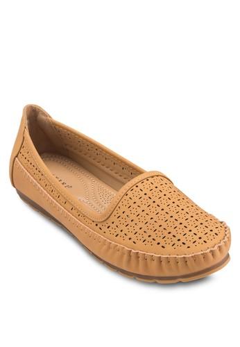 雕花esprit旗艦店平底懶人鞋, 女鞋, 芭蕾平底鞋