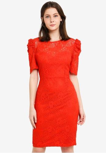 Paper Dolls orange Puff Sleeve Dress 5114BAA99AF6C8GS_1