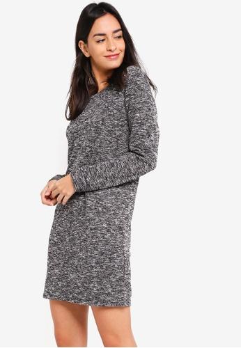 ZALORA grey Sweater Dress 3CAD9AA6C2D7CCGS_1