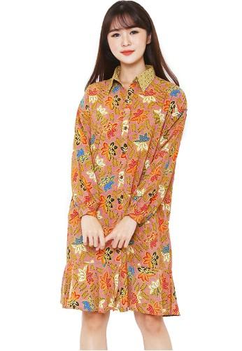Flike Batik multi Dress Nagita Motif Petunia Pink 954AFAA034219AGS_1