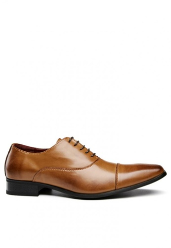 Kings Collection brown Perugia Cap Toe Derby Shoes 0616FSH81B4528GS_1
