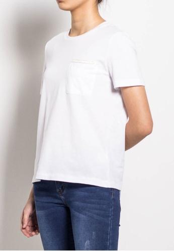 SUB white Women Short Sleeve Tee 951A2AA3D964D6GS_1