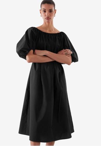 COS black Puff Sleeve Dress 104BCAAF118509GS_1