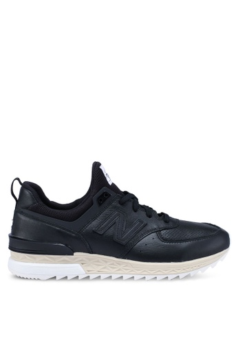 New Balance black 574 Lifestyle Shoes B7071SH59D2CD2GS_1