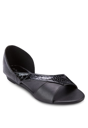 esprit outlet 台灣鏤空暗紋平底鞋, 女鞋, 鞋
