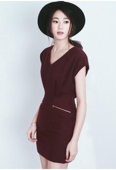 Stunningly Simple Pleated Dress