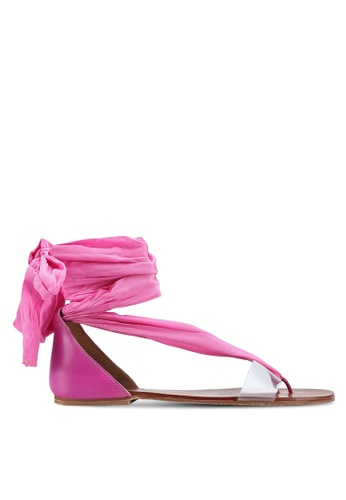 Free People pink Barcelona Wrap Sandals 5EAEDSH6794C2CGS_1