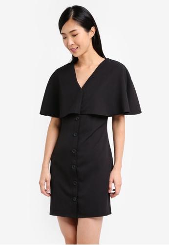 ZALORA black Capelet Dress 61A5DAAF17A7D2GS_1