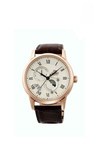 Orient white and brown Orient Sun & Moon Men Classic Mechanical ORSAK00001Y 1BCCDAC675154EGS_1