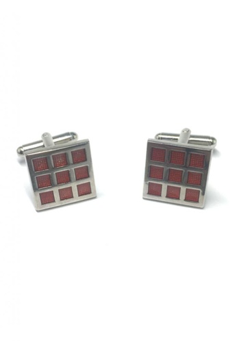 Splice Cufflinks red Red Checked Square Cufflinks SP744AC05FTMSG_1