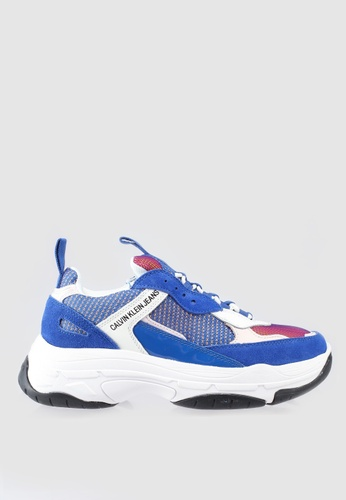Calvin Klein white and red and blue Marvin Sneakers 2EB90SH991EA0FGS_1