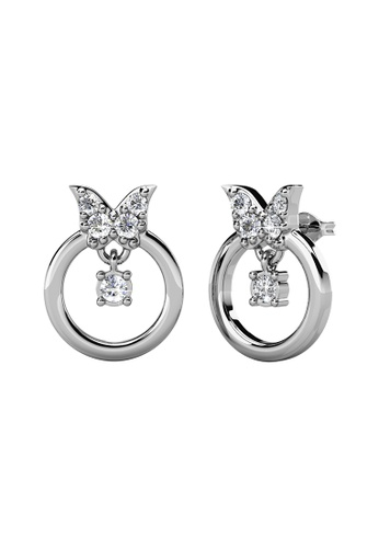 Her Jewellery 白色 Her Jewellery Papillion Earrings (White Gold) with Premium Grade Crystals from Austria镶嵌施华洛世奇水晶 AE079ACCB510DFGS_1