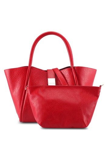 Perllini&Mel red Faux Leather Double Handle 3628EAC3F156AAGS_1