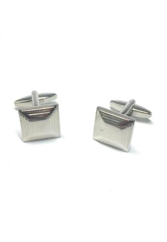 Splice Cufflinks silver Silver 3D Square Cufflinks 2 SP744AC71FUUSG_1