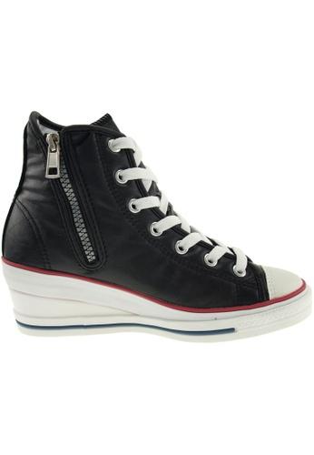 Maxstar Maxstar Women's 7H Zipper PU Low Wedge Heel Sneakers US Women Size MA164SH35PWUSG_1