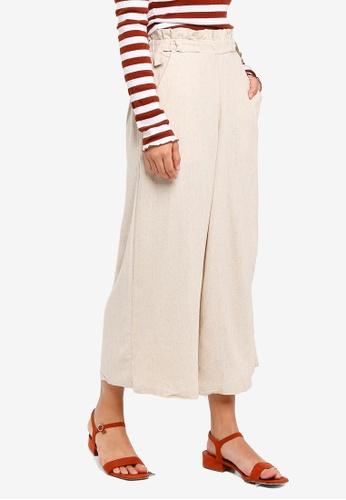 Cotton On beige High Waist Culottes DCACEAA758A9A4GS_1