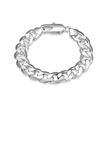 Glamorousky silver Fashion Elegant Geometric 12mm Side Side Bracelet 15913ACD7CAEF9GS_1