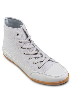Canvas Lace Up High Top Sneakers