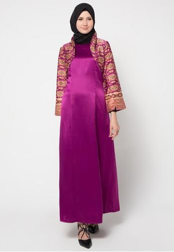 AZZAR pink Siona Maxi Dress With Jacket AZ485AA48WJFID_1